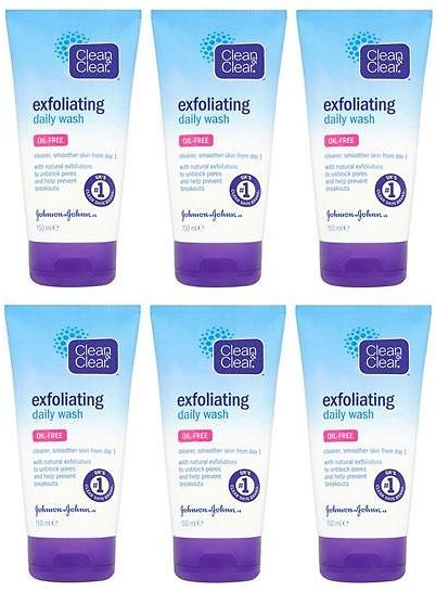 Clean & Clear Oil-Free Exfoliating Daily Wash (6-Pack)