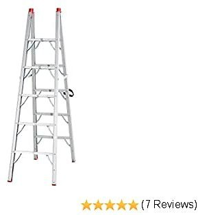 HomCom Multi-Purpose Folding Aluminum Ladder with 5 Platforms, for Indoor & Outdoor Use & a 330lbs Capacity, 73.5