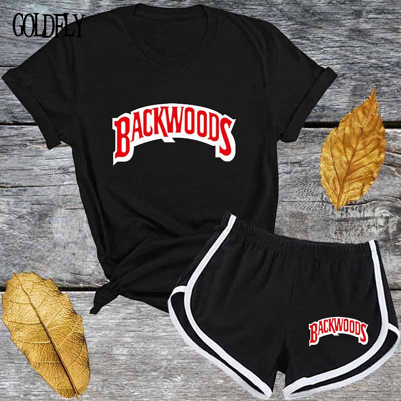 US $13.62 40% OFF Cute Black Red Letter T Shirt and Shorts Tracksuit Set Summer Women Short Sleeve O Neck Fashion Casual 2 Piece Outfit for Woman Women's Sets  - AliExpress