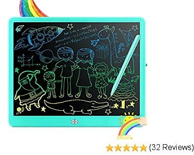 LCD Writing Tablet,Fverey 15 Inch Colorful Doodle Board,Drawing Tablet Educational Toys for Boys and Girls,Electronic Drawing Pad Gift for Kids and Adults Blue