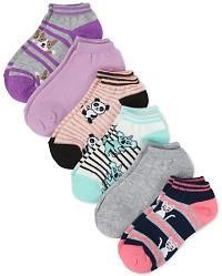 Girls Animal Crew Socks 6-Pack