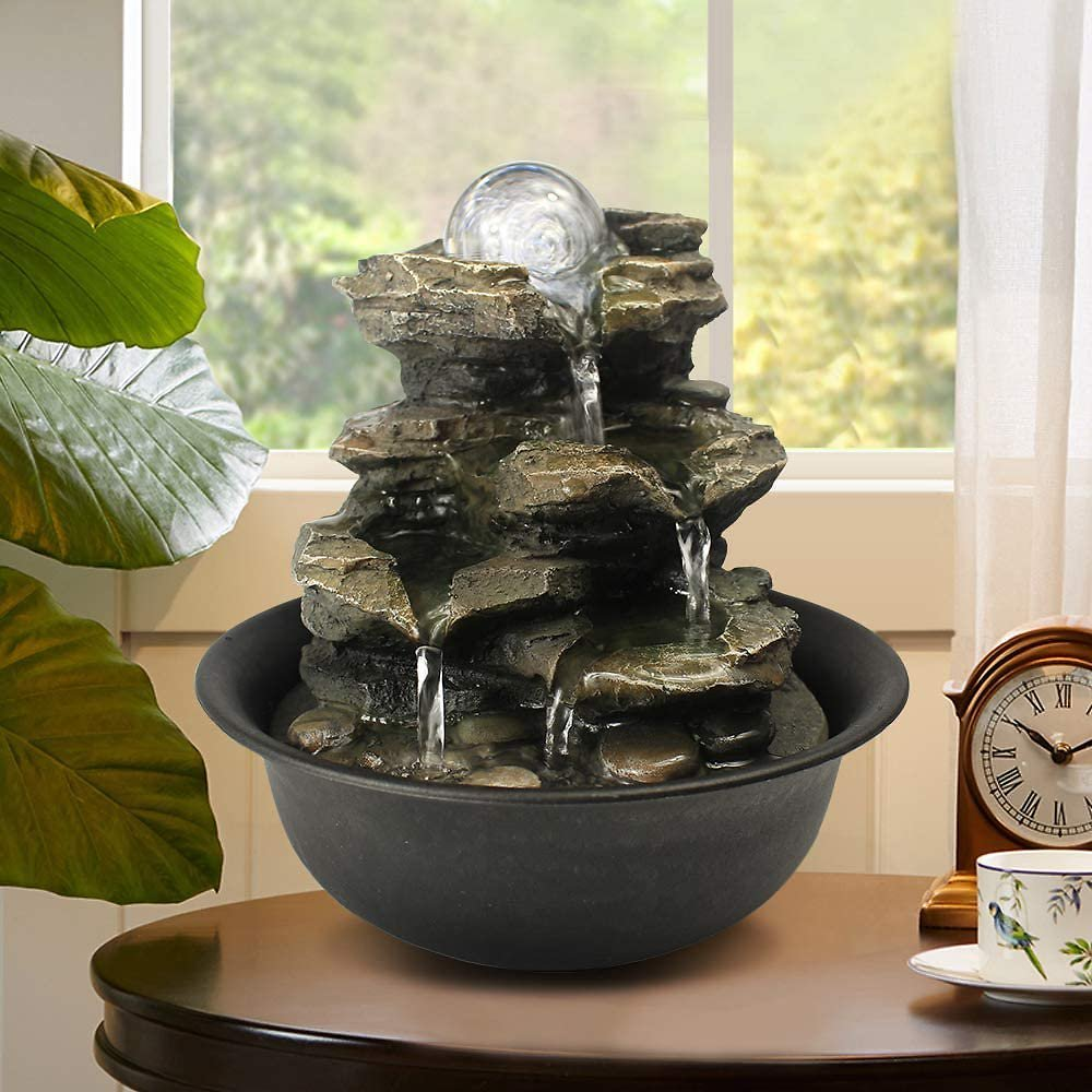 8-3-Spinning-Orb-Rock-Cascading-Tabletop-Fountain-Zen-Meditation-Indoor-Waterfall-Feature-with-LED-Li