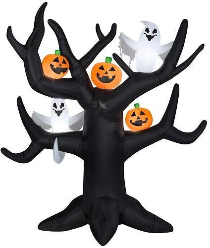 Gemmy 8.5-ft X 8.2-ft Lighted Tree Halloween Inflatable Lowes.com