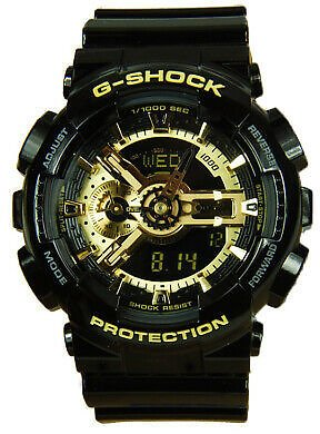 Casio G-Shock Analog-Digital Anti-Magnetic Gold and Black Resin Watch GA110GB-1A 79767943219