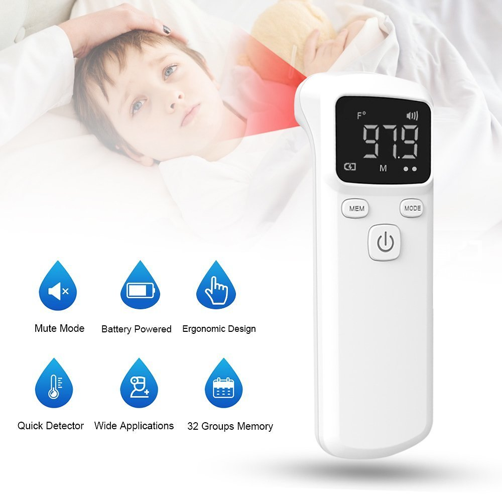 Lixada Digital Infrared Thermometer Temperature Gauge Object Non Contact