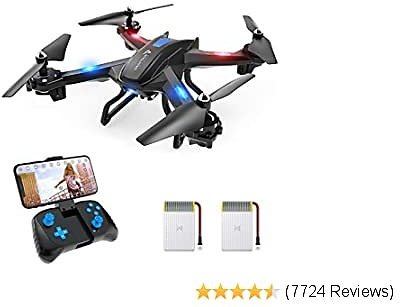 WiFi FPV Drone with 720P HD Camera, Voice Control, Gesture Control RC Quadcopter for Beginners