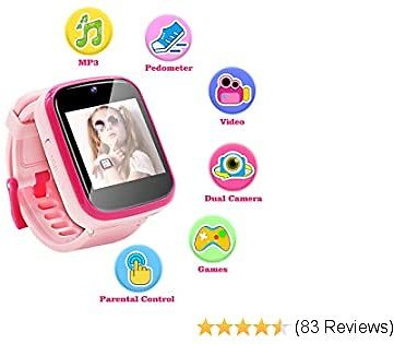 Yehtta Kids Smart Watch Toys for 3-8 Year Old Girls Toddler Watch HD Dual Camera Watch for Kids All in One Pink Birthday Gifts for Kids USB Charging Touch Screen Kids Watch Educational Toys