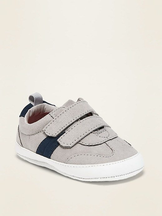 Faux-Suede Secure-Close Sneakers for Baby