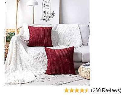 Decorative Square Throw Pillow Covers Set
