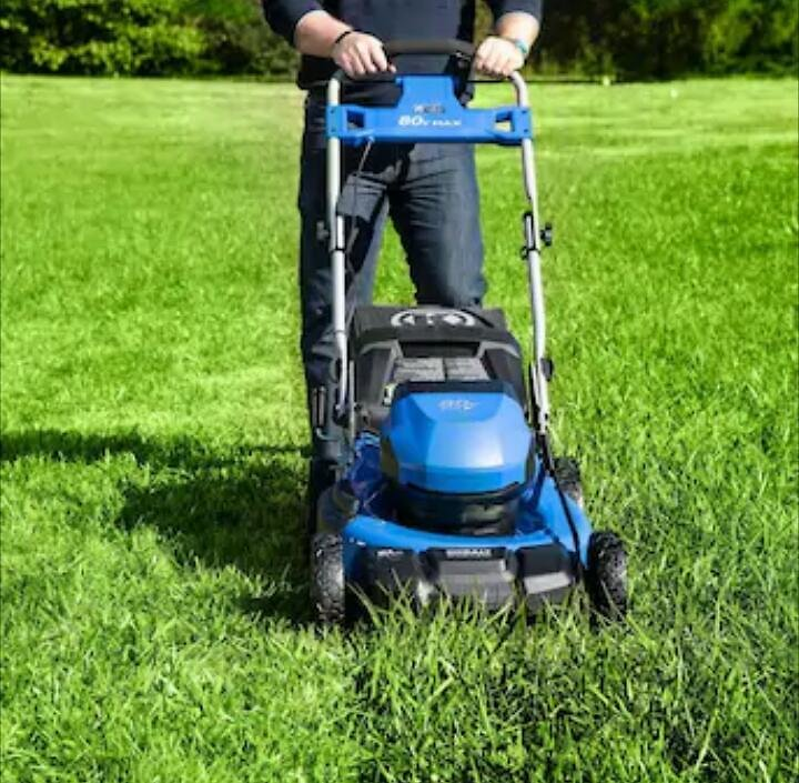 Kobalt 80-Volt Max Brushless Lithium Ion Push 21-in Cordless Electric Lawn Mower (Battery Included )