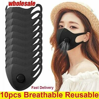 Wholesale 10X Face Mask With Valve 3D Mouth Cover Breathable Washable Reusable