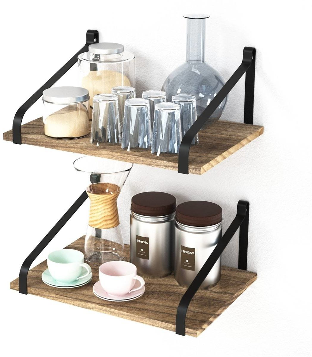 Floating Rustic Wall Shelves | Set Of 2