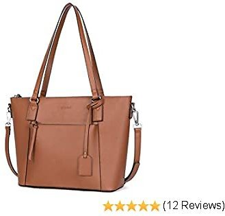 WESTBRONCO Handbags for Women Fashion Leather Laptop Tote Shoulder Bag Satchel Purse for Work Daily