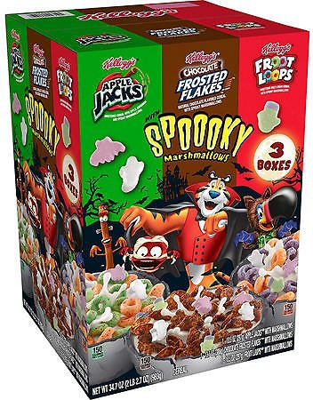 Kellogg's Halloween Edition Breakfast Cereal, Variety Pack (34.7 Oz.) - Sam's Club