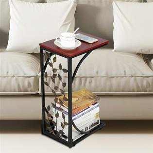 Yaheetech C-shaped Side Sofa Snack Table Coffee Tray End Table Living Room Furniture