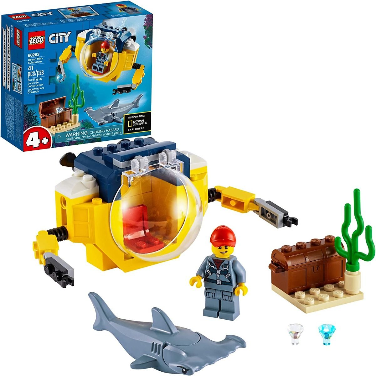 LEGO City Ocean Mini-Submarine 60263, New 2020 (41 Pieces)