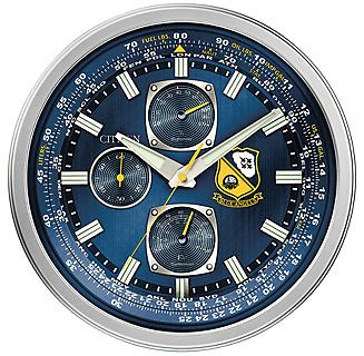 Citizen Gallery Blue Angels Silver-Tone & Blue Wall Clock