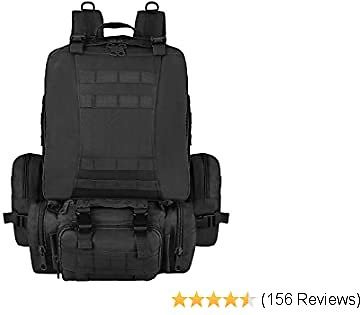 Top NOOLA Tactical Military Backpack Survival Army Rucksack Assault Pack Molle Bag