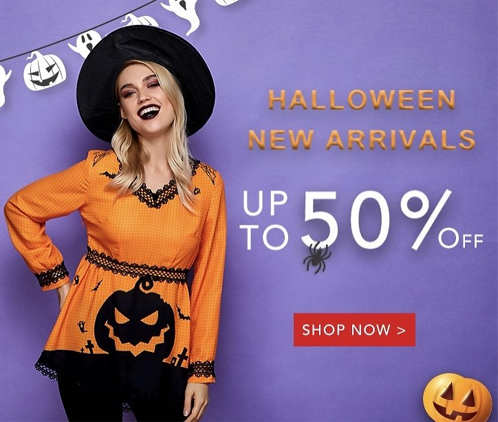 Halloween Clothing For Women Up to 50% OFF