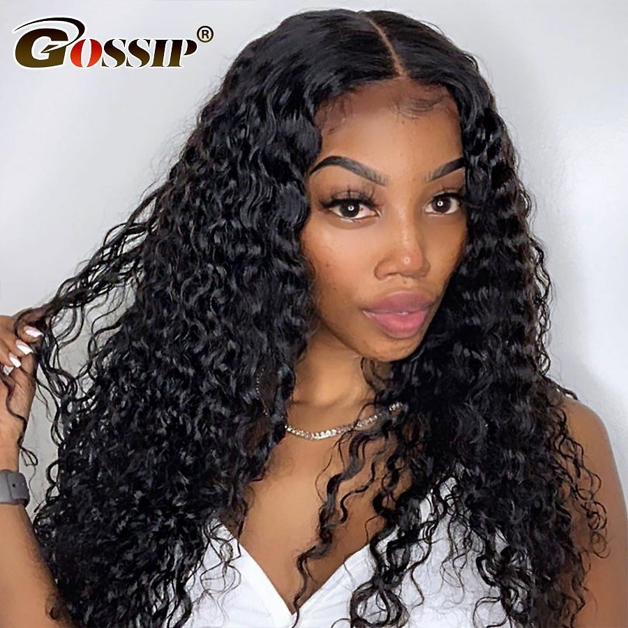 360 Lace Frontal Wig Curly Full Lace Front Human Hair Wigs Pre Plucked With Baby Hair For Black Women Remy Water Wig