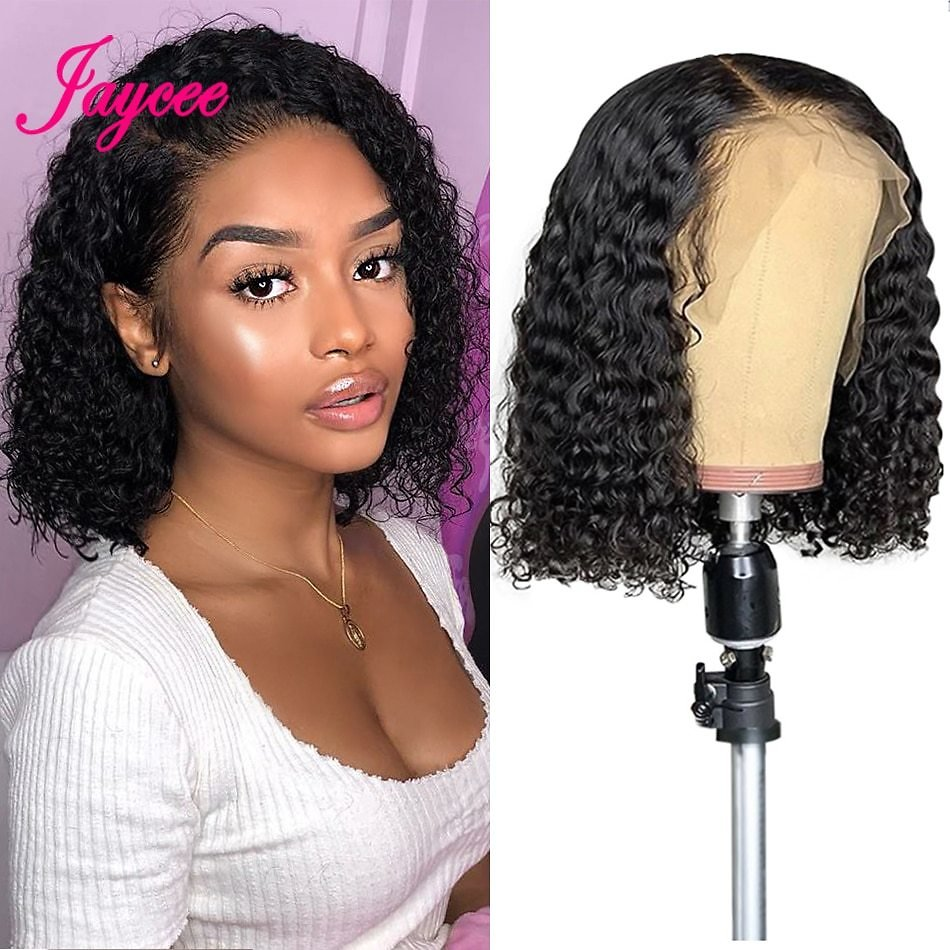Brazilian Curly Bob Wig Human Hair Lace Front Wigs Short Wig 13x4 Lace Glueless For Women Alipearl Cheveux Humain Perruque