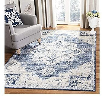 Safavieh Brentwood Collection BNT865A Area Rug, 9' X 12', Ivory/Navy