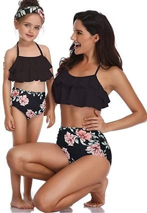 Mother and Daughter Swimwear Family Matching