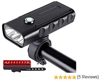 50%OFF Bike Light USB Rechargeable with Power Bank