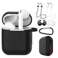 Source 7 Pcs/Set Silicone Wireless Bluetooth Earphones Case For Airpods 1 2 Apple TWS Earbud Earphone Accessories Protective Cover On M.alibaba.com