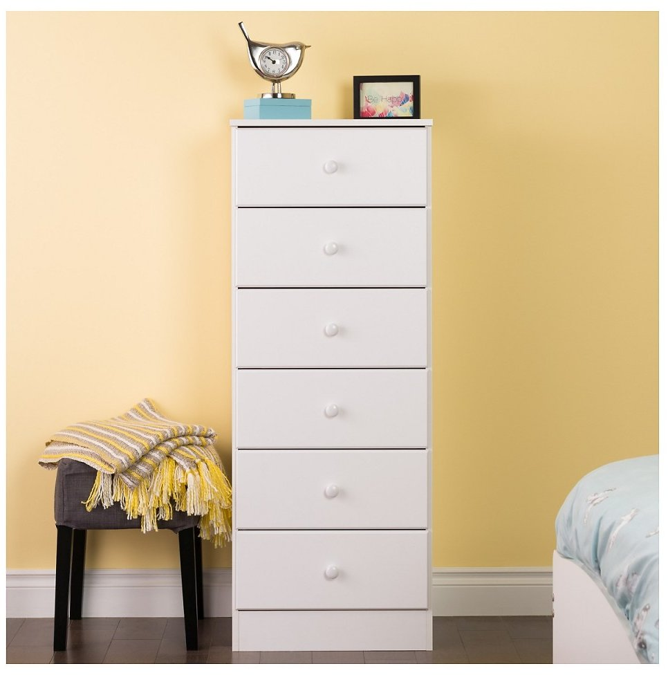 Prepac Astrid 6-Drawer Tall Chest (2 Colors)