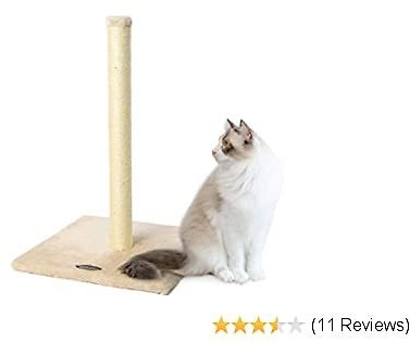 Cat Scratching Post,Natural Sisal Pole with Hanging Toy and Heavy Base Simple Design for Kittens and Cats