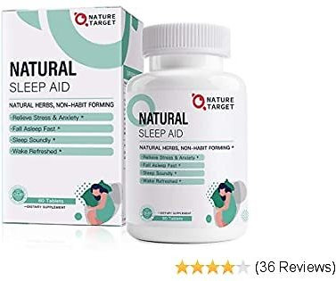 Natural Sleep Aid with Melatonin and L-Theanine Supplement