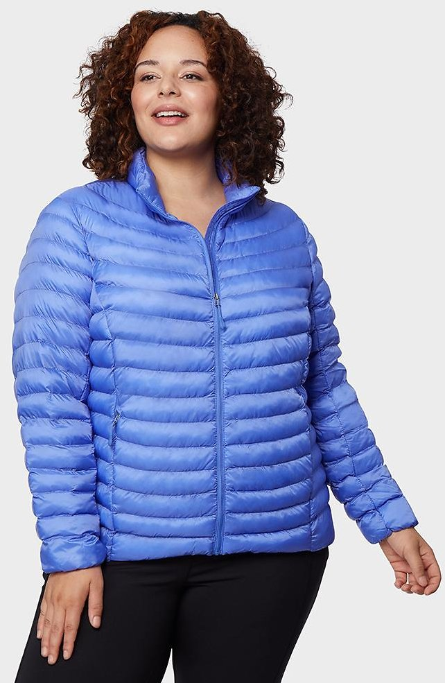 WOMEN'S PLUS-SIZE LIGHTWEIGHT RECYCLED POLY-FILL PACKABLE JACKET