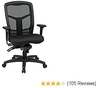 Office Star High Back ProGrid Back FreeFlex Seat with Adjustable Arms and Multi-Function