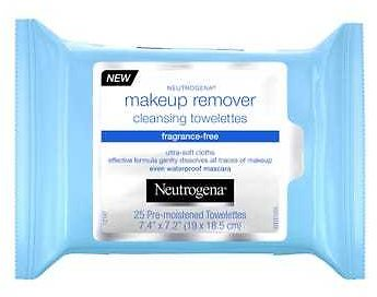 Neutrogena Fragrance-Free Cleansing Makeup Remover Face Wipes - 25 Ct