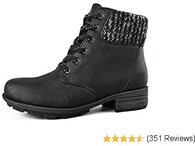 Save $24 | Comfy Moda Women's Wool-Lined Insulated Winter Boots Hunter