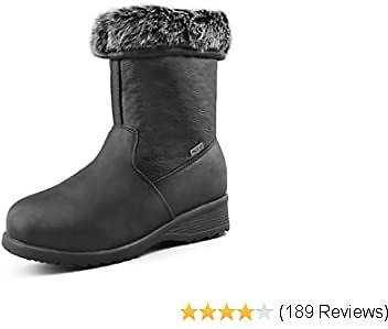 Women's Waterproof Winter Boots | Leather | 3M Thinsulate | Fur Lined | Ice Gripper - Alaska