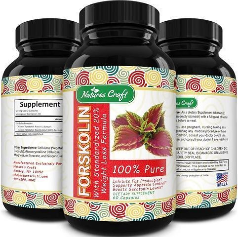 Natures Craft Forskolin for Weight Loss - Natural Weight Loss Supplement Metabolism Booster Belly Fat Burner Appretite Suppressant and Carb Blocker - Newegg.com
