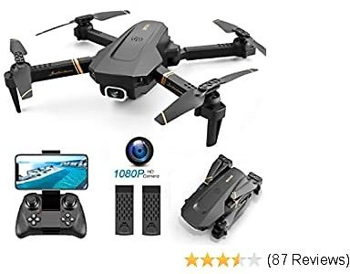 4DRC V4 Foldable Drone with 1080p HD Camera for Adults and Kids, Quadcopter with Wide Angle FPV Live Video, Trajectory Flight, App Control,Optical Flow, Altitude Hold and 2 Modular Batteries
