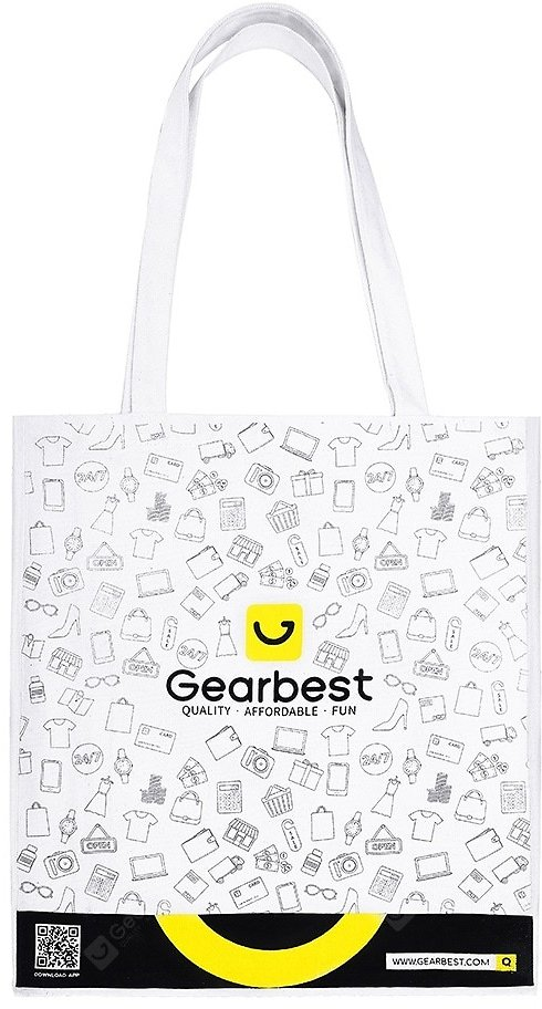 Gearbest 5th Anniversary Customized Shopping Gift Bag White Handbags Sale, Price & Reviews   Gearbest
