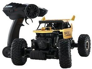 4WD RC Monster Truck Off-Road Vehicle 2.4G Remote Control Buggy Crawler Car Gold