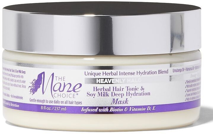 Mane Choice Heavenly Halo Herbal Hair Tonic & Soy Milk Deep Hydration Mask | Conditioner | Textured Hair | Sally Beauty