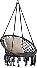 Best Choice Products Handwoven Cotton Macrame Hammock Hanging Chair Swing for Indoor