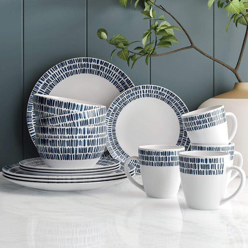 Cecily 16 Piece Dinnerware Set, Service for 4