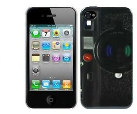 Cell Phone Case Protective Cover Motif Camera Bowl for Mobile Apple 4 & 4s