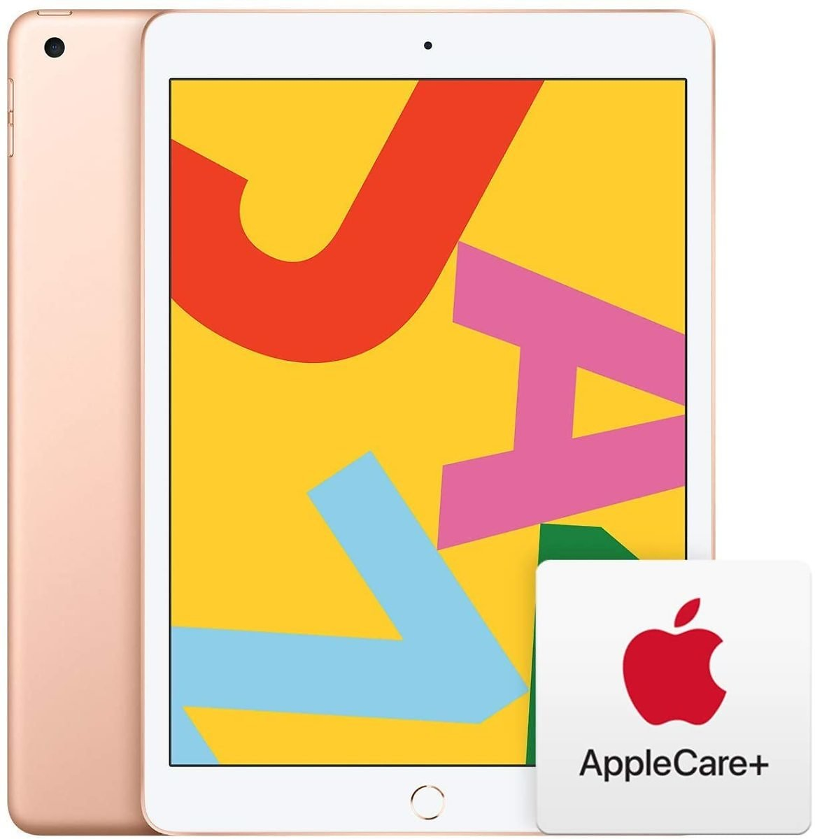 New Apple IPad (10.2-Inch, Wi-Fi, 128GB) - Gold (Latest Model) with AppleCare+ Bundle