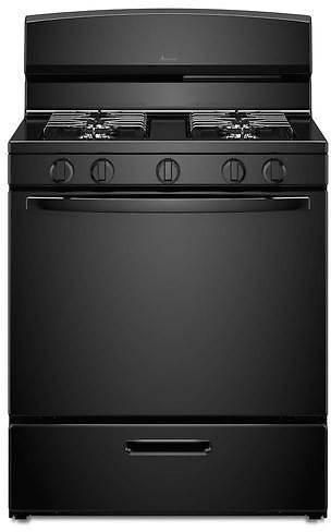 Amana 4 Burners 5.1-cu Ft Freestanding Gas Range (Black) (Common: 30-in; Actual: 29.88-in) Lowes.com