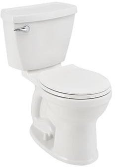 American Standard Champion White Round Chair Height 2-Piece Toilet 12-in Rough-In Size (ADA Compliant) Lowes.com