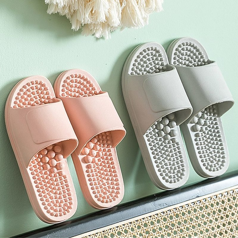 US $10.49 50% OFF|House Health Massage Slippers For Women Dot Raised Foot Massage Bedroom Shoes Slides Bathroom Non Slip Home Couples Slippers|Slippers| - AliExpress