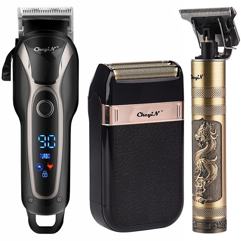 US $11.45 53% OFF|Professional Barber Hair Clipper Rechargeable Electric T Outliner Finish Cutting Machine Beard Trimmer Shaver Cordless Corded|Hair Trimmers| - AliExpress